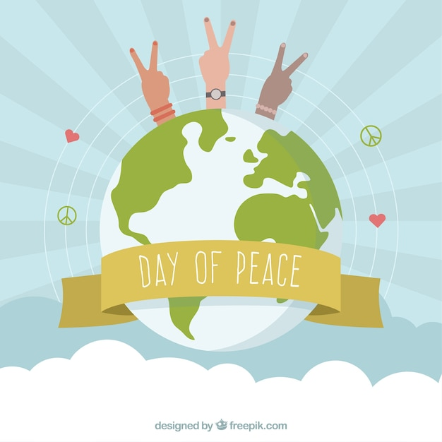 International Peace Day Symbols Of Peace Around The World Vector