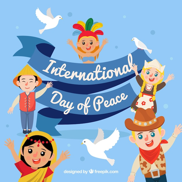 International peace day with united people