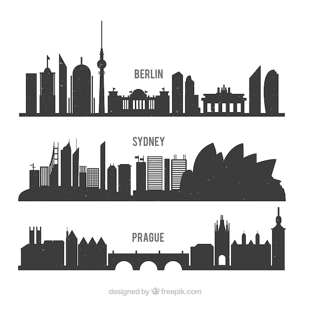 International silhouettes pack Free Vector