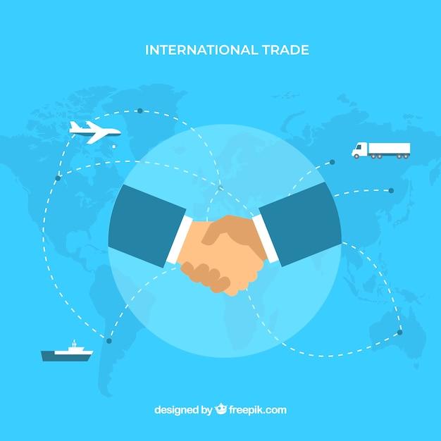 Концепция международной торговли с плоской конструкцией Бесплатные векторы
