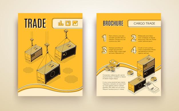 International trading company brochure Free Vector