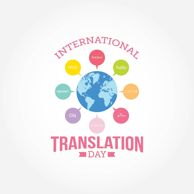 International Translation Day Premium Vector