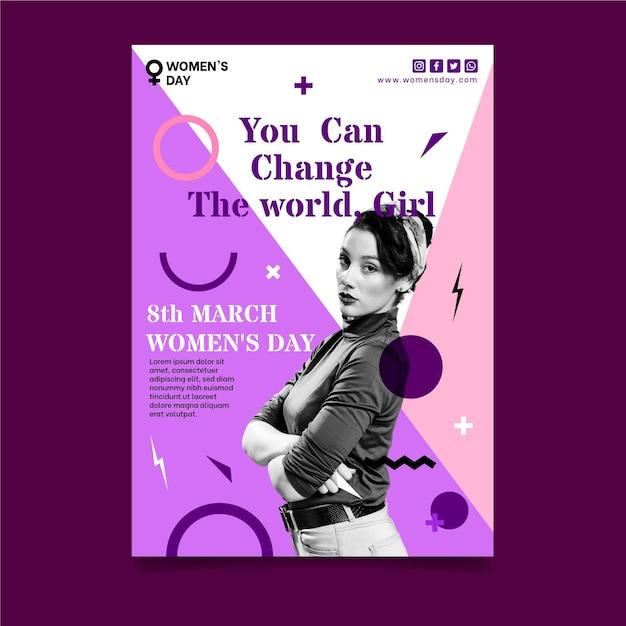 International women day a5 vertical Free Vector