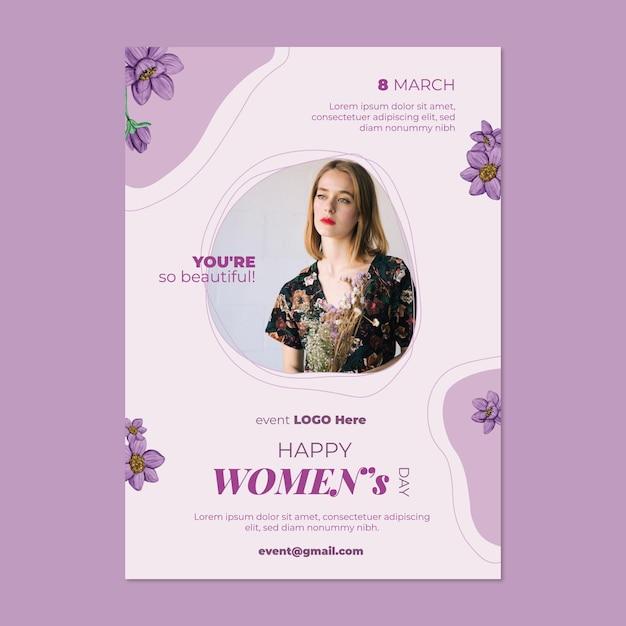International women day a5 vertical Premium Vector