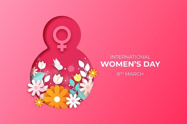 Международный женский день фон Бесплатные векторы