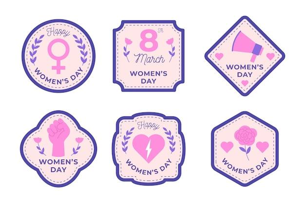 Значки международного женского дня Бесплатные векторы