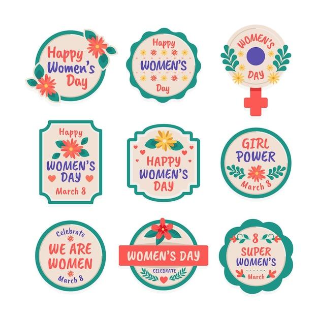 Distintivi della giornata internazionale delle donne Vettore gratuito