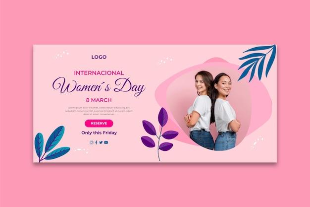 International women day banner Free Vector