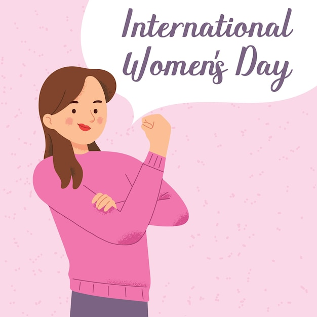 International women day fist power female feminism against discrimination Premium Vector
