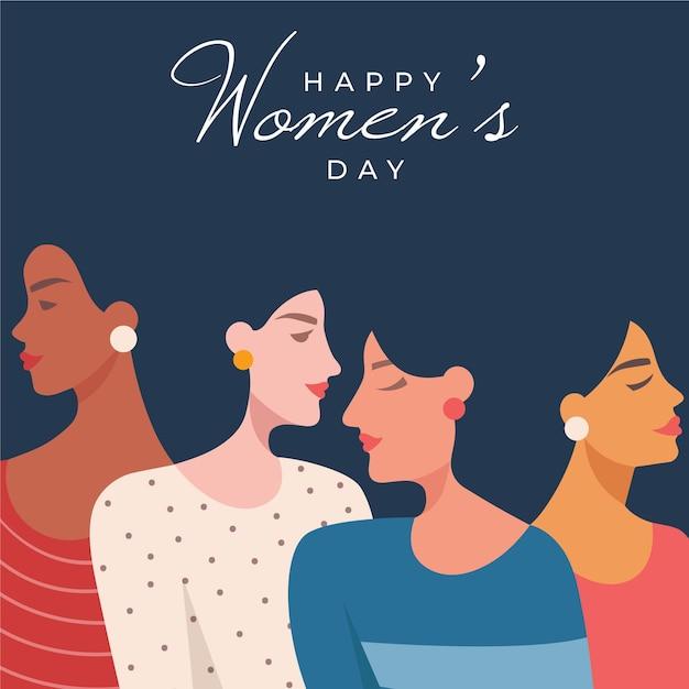 International women day illustration Free Vector
