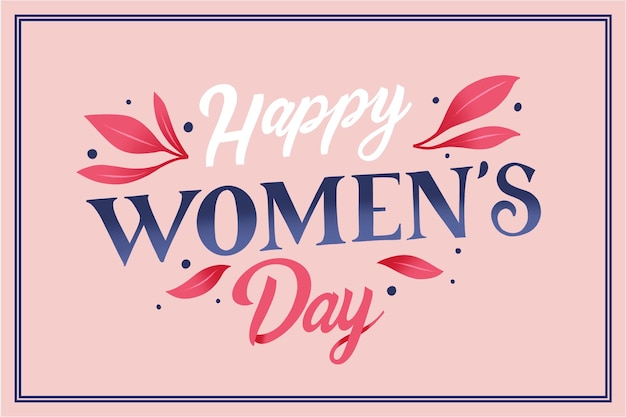 International women day lettering Free Vector