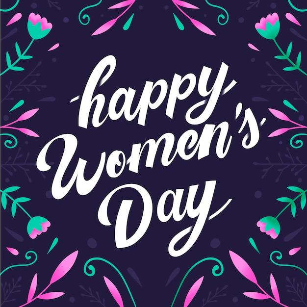 International women daylettering Free Vector