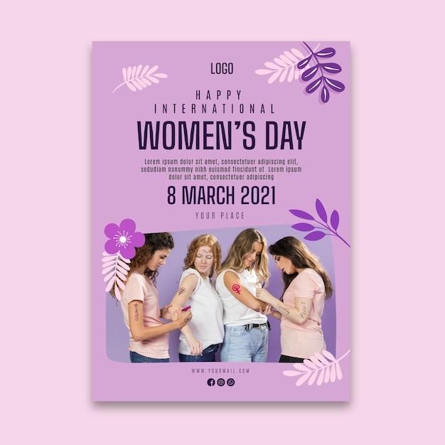 International women day poster Free Vector