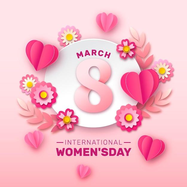 Международный женский день Бесплатные векторы