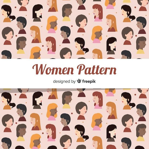 International women pattern Free Vector