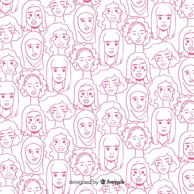 International women pattern Free Vector