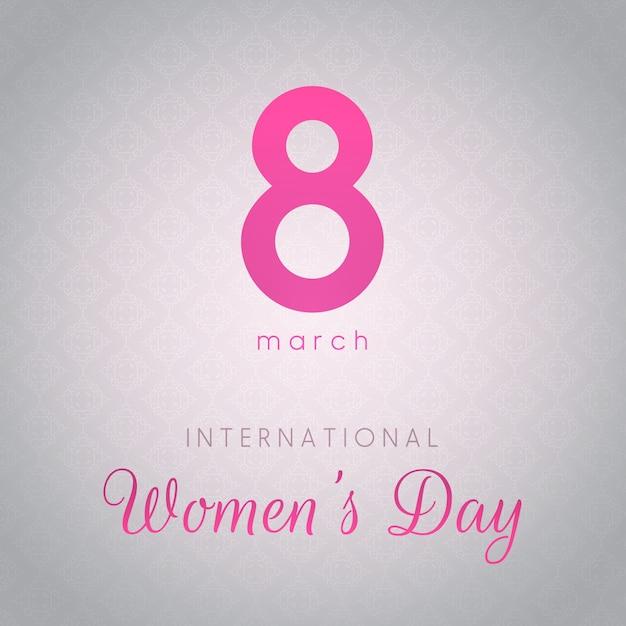 International Women's Day background Free Vector