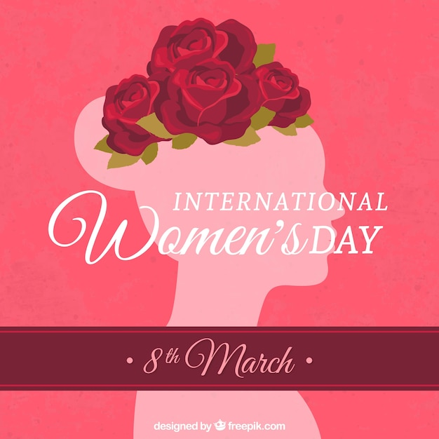 International women's day card Free Vector