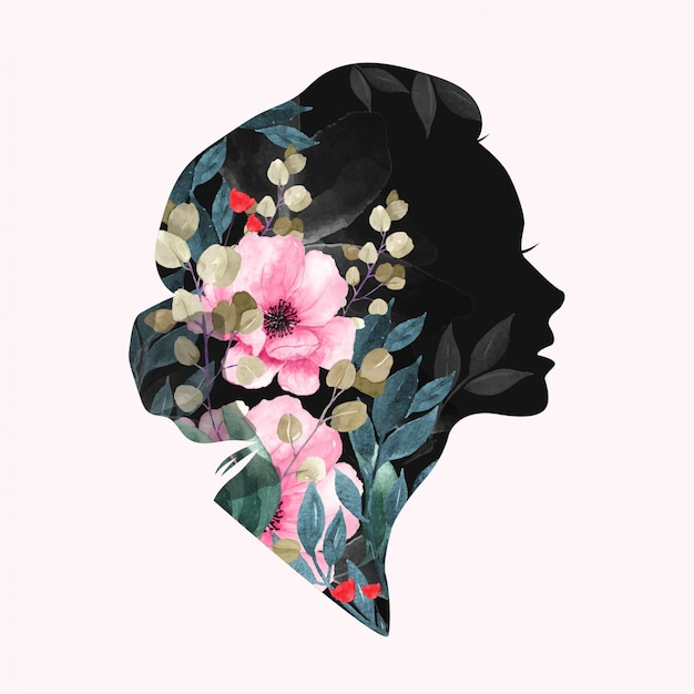 International women's day. floral design Premium Vector