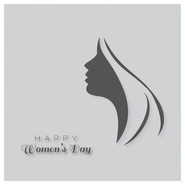 International women's day, gray background Free Vector