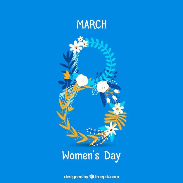 International women's day hand drawn background Free Vector
