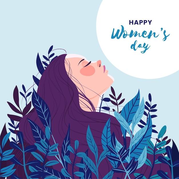 Illustrazione disegnata a mano della giornata internazionale della donna Vettore gratuito