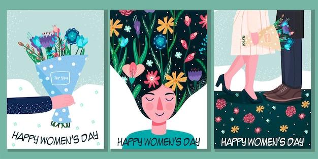 Международный женский день. 8 марта. независимость, равенство. женщины. Premium векторы
