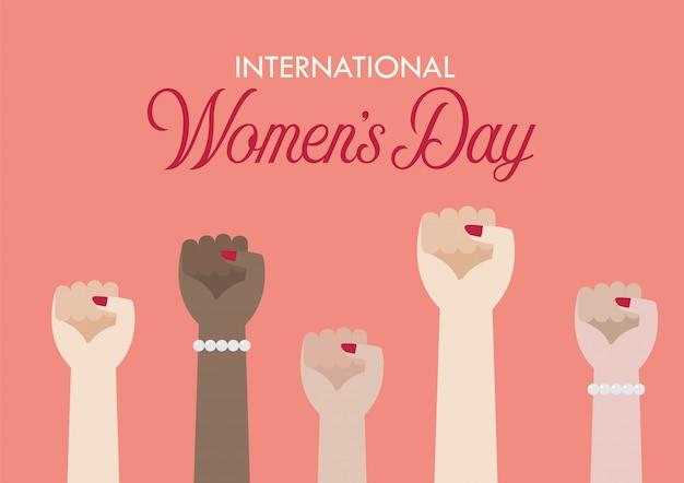 International womens day Premium Vector