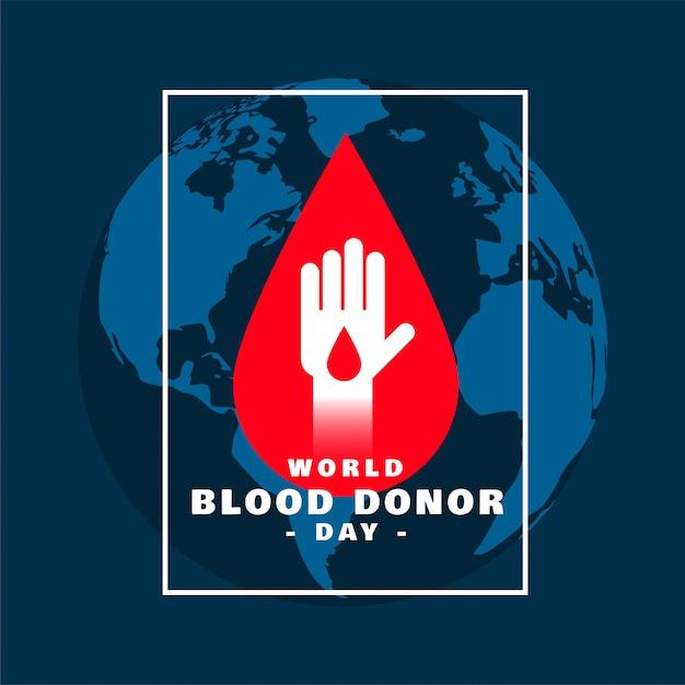 国際世界献血者デーコンセプトポスターデザイン 無料ベクター