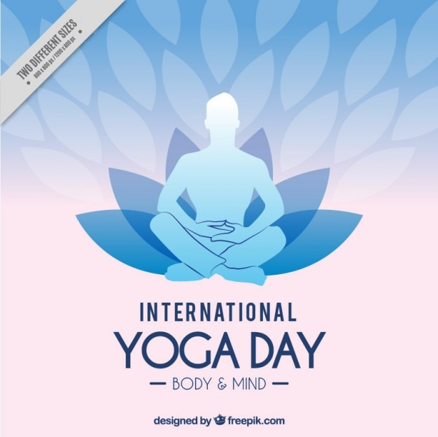 International Yoga Day Background Free Vector