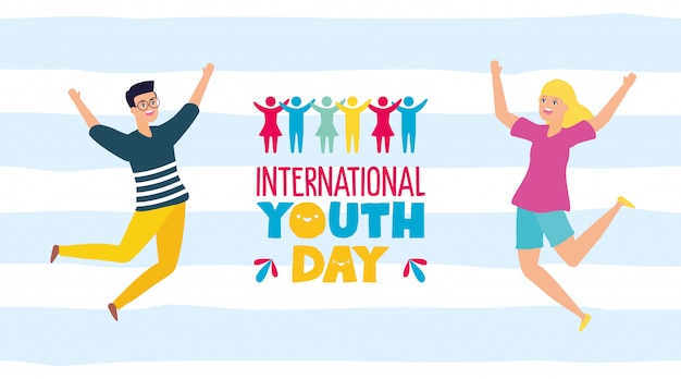 International youth day Free Vector