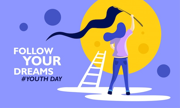 International youth day Premium Vector