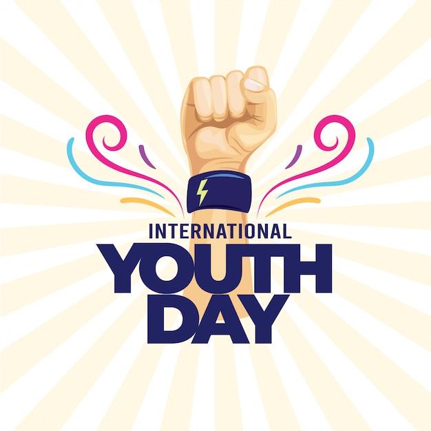 International youth day Premium Vector