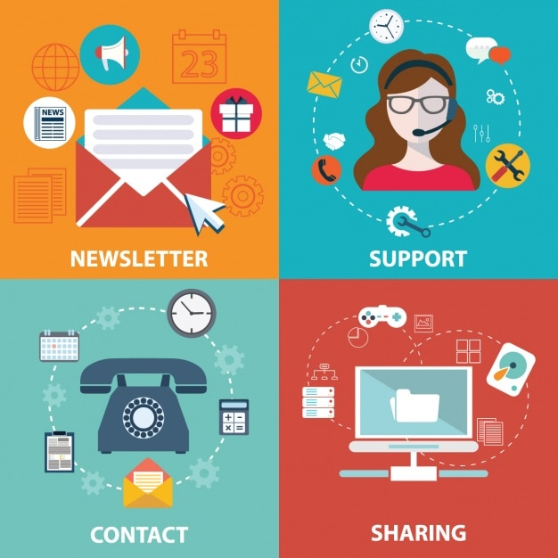Internet business Free Vector