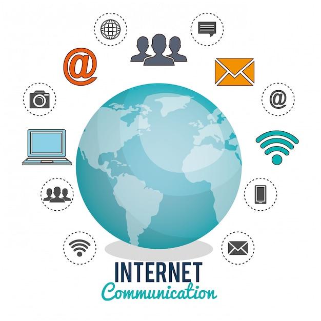 Free Vector Internet Communication