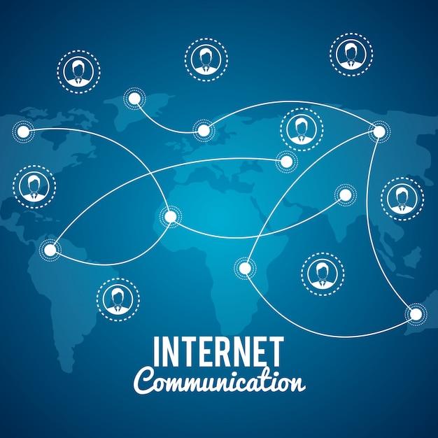 Comunicazione via internet Vettore gratuito