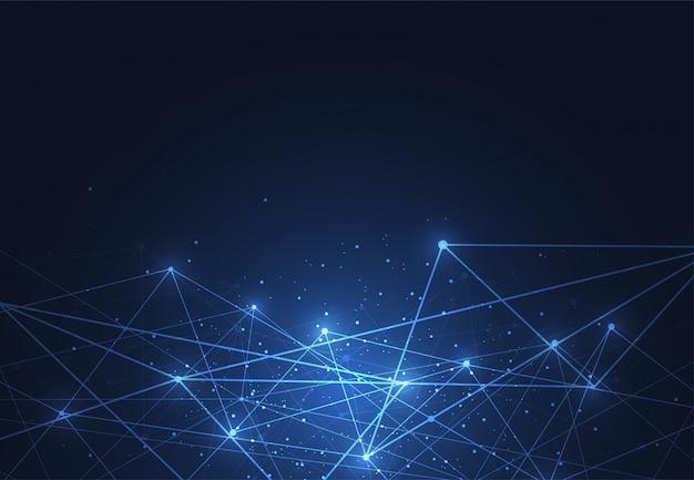 Подключение к интернету, абстрактный смысл науки фона Premium векторы