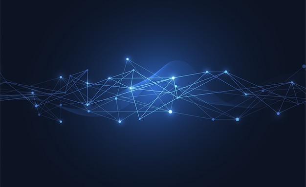 Internet connection abstract sense of science Premium Vector