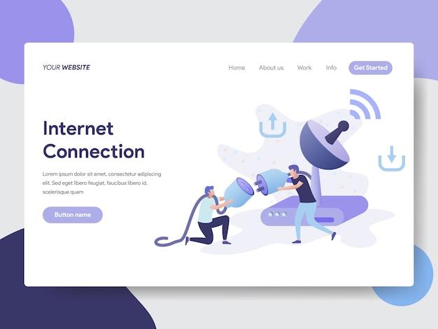 Internet connection illustration for web pages Premium Vector