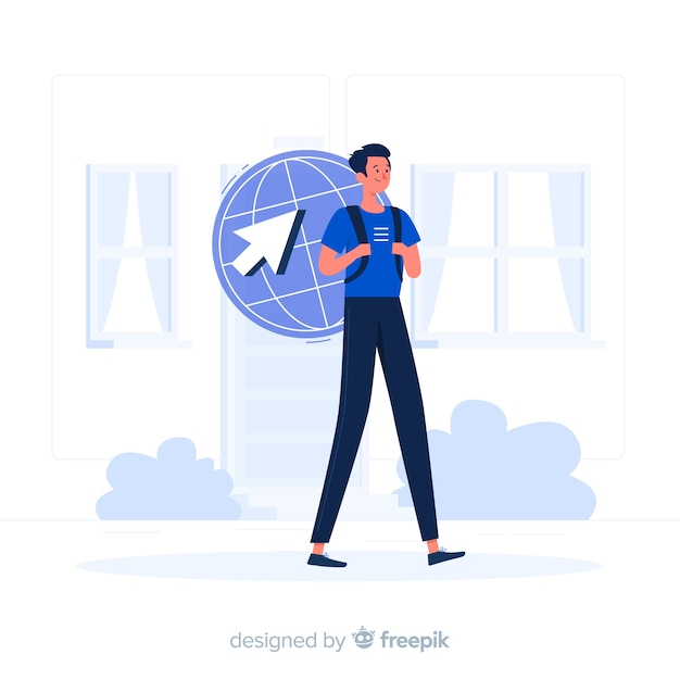 Internet on the go concept illustration Free Vector