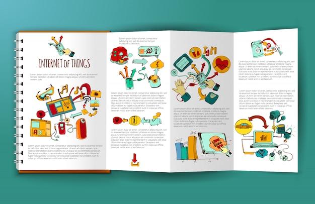 Internet of things brochure Free Vector