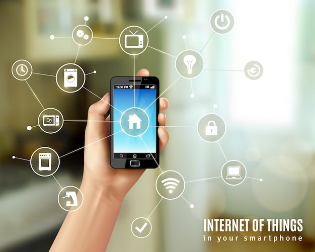 Internet of things concept Vettore gratuito