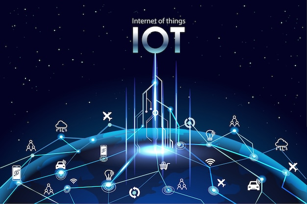 Internet of things (iot) Premium Vector