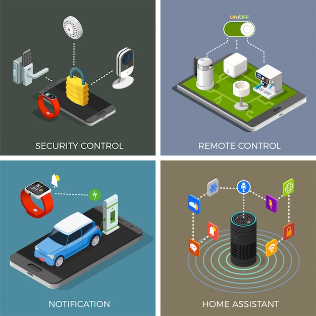 Internet of things isometric concept Free Vector