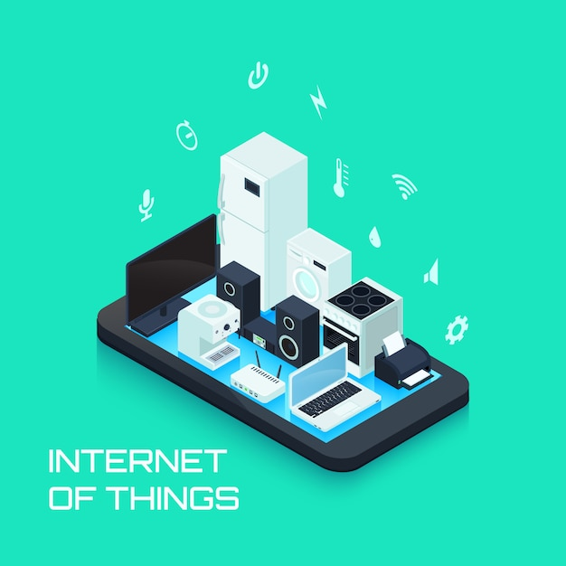 Internet of things Free Vector