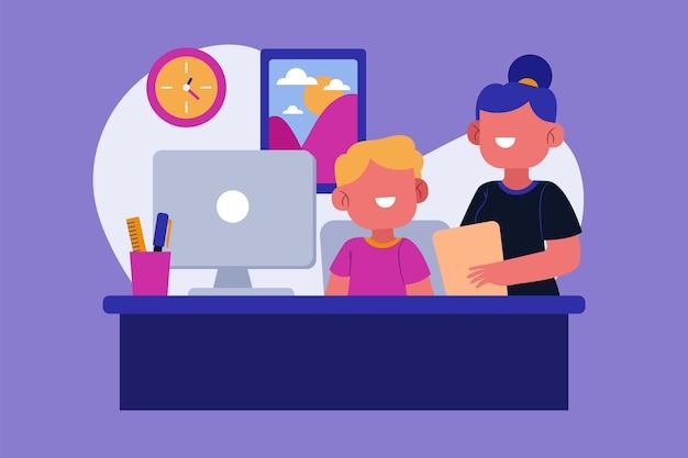 Internship job illustration Free Vector