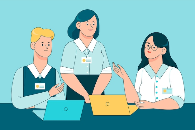 Internship job illustration Premium Vector