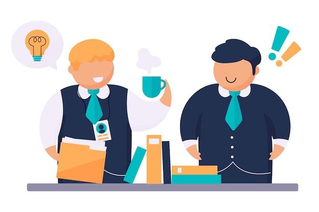 Internship job training illustration Free Vector