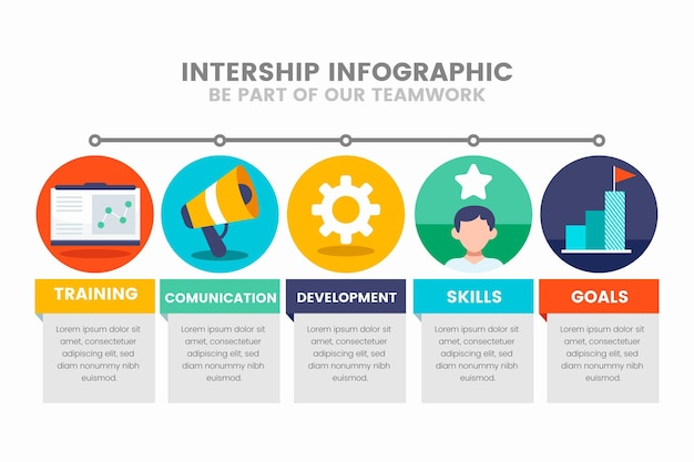 Internship training infographic Premium Vector