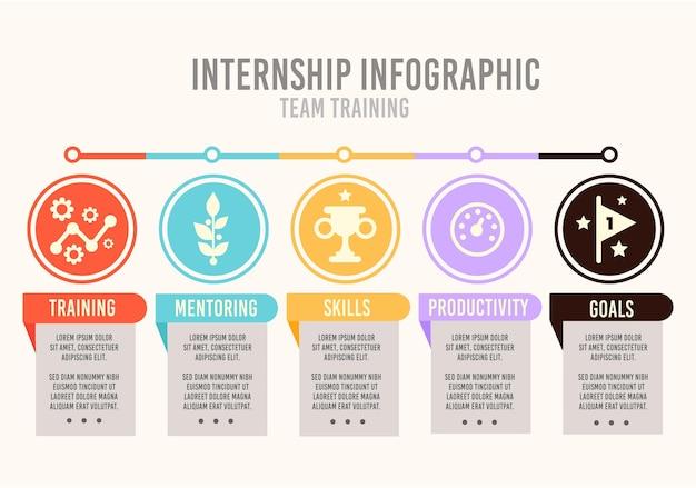 Internship training infographic Premium Vector